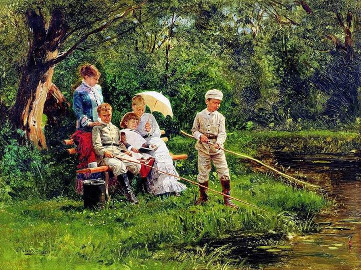 Владимир Маковский, 1881 год, картина «В жаркий день»