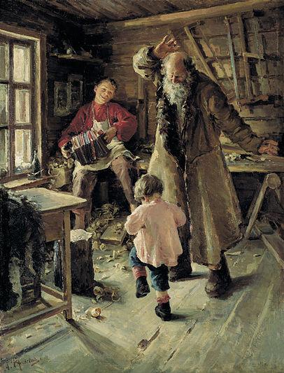 Антонина Ржевская, 1897 год, картина «Веселая минутка».