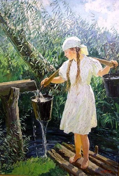 Аркадий Пластов, 1952 год, картина «Родник».