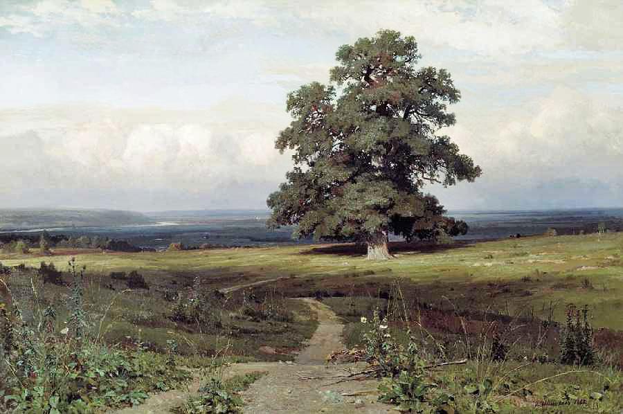 Иван Шишкин, 1883 год, картина «Среди долины ровныя»