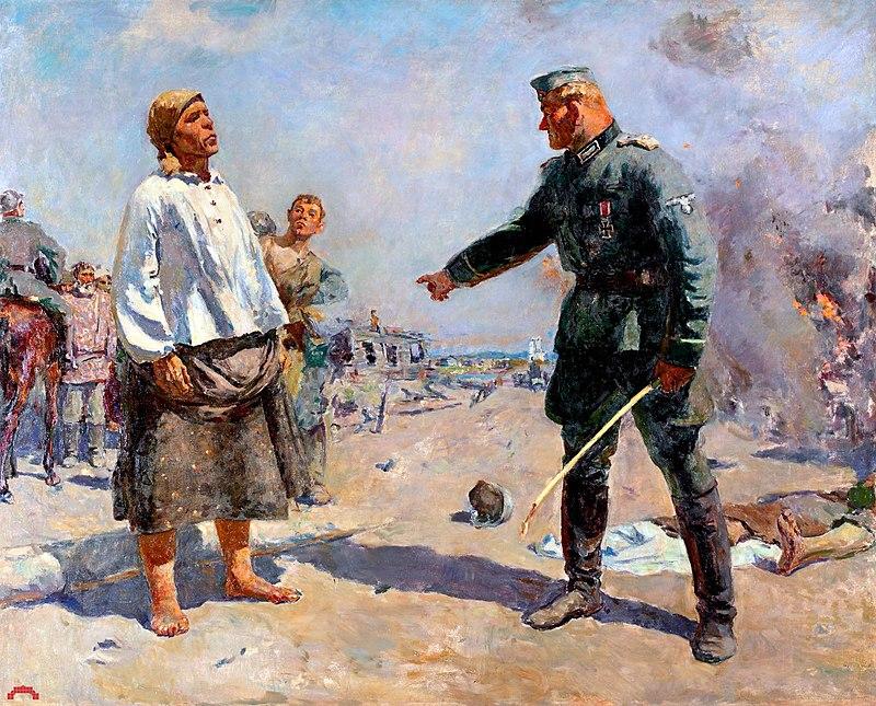 Сергей Герасимов, 1943-1950 г., картина «Мать партизана»