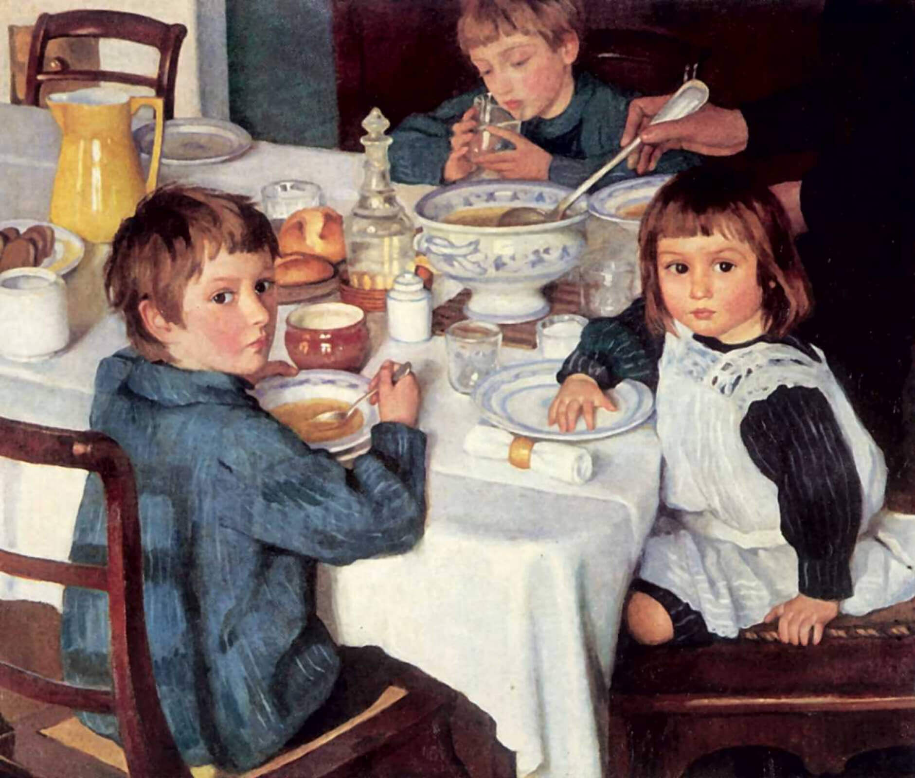 Зинаида Серебрякова, 1914 год, картина «За завтраком».