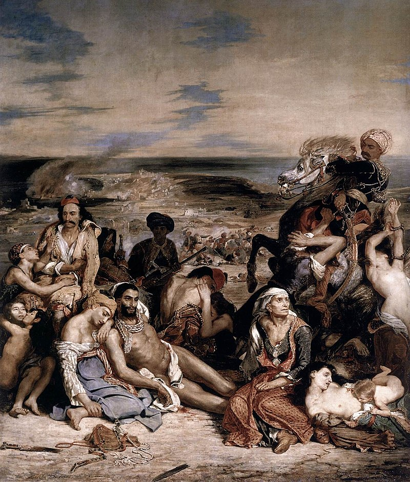 Резня на Хиосе. Эжен Делакруа. 1824 год, Лувр, Париж
