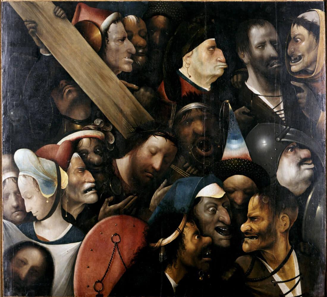 Несение креста. Иероним Босх. Музей изящных искусств, Гент. 1490-1500 гг.
