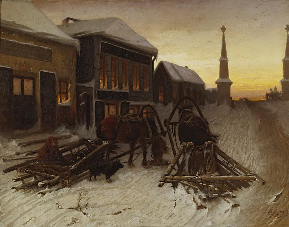 Последний кабак у заставы, В. Г. Перов, 1868 год.