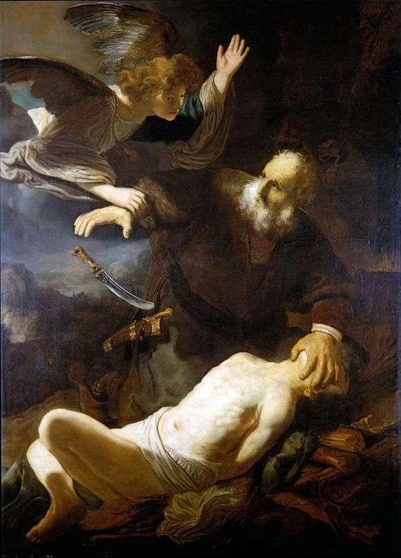 Рембрандт Харменс ван Рейн. Жертвоприношение Авраама.1635 год.