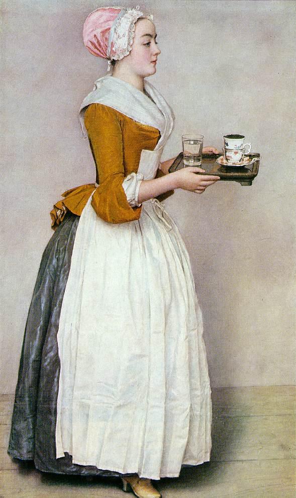 Шоколадница. Жан-Этьен Лиотар. 1743-1745 гг. Галерея старых мастеров, Дрезден.