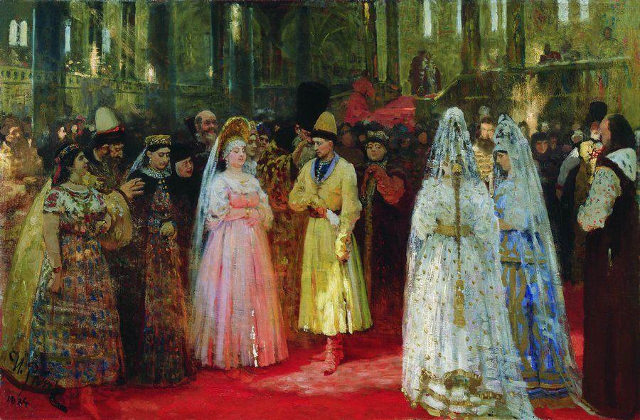 """Описание картины """"Выбор царской невесты"""" Ильи Репина"""