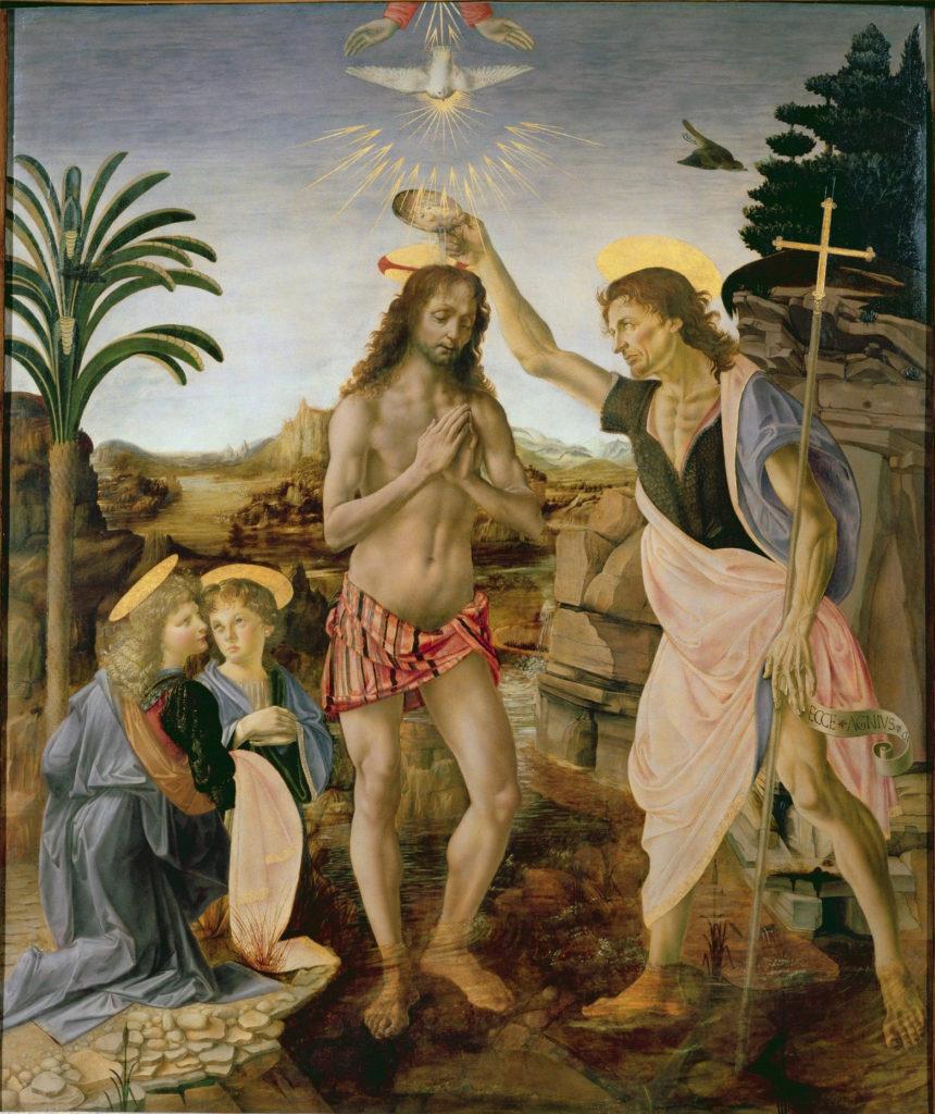 """Описание картины Вероккьо и Леонардо да Винчи """"Крещение Христа"""""""