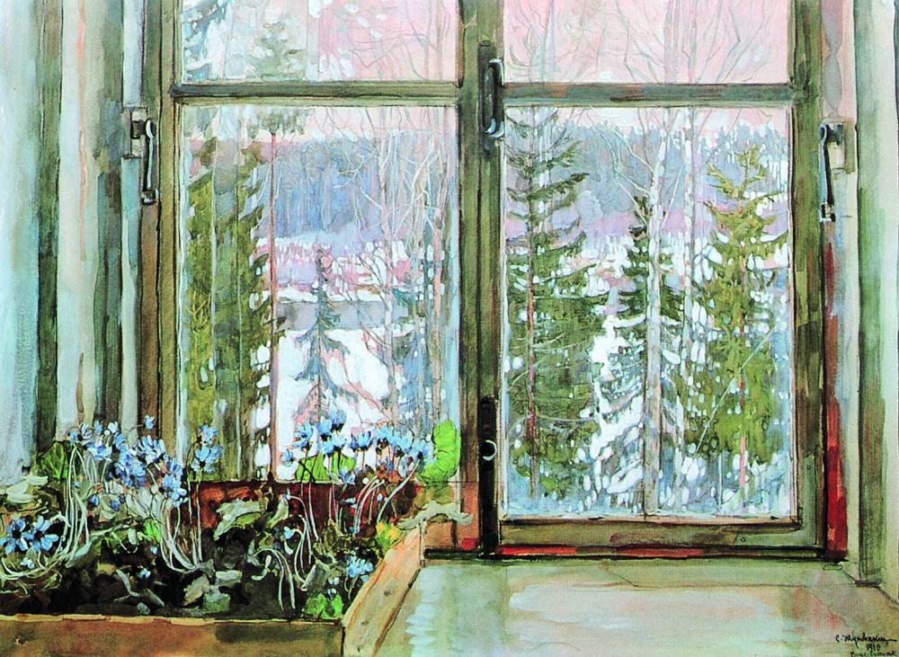 Станислав Жуковский, 1909 год, картина «Первые предвестники весны».