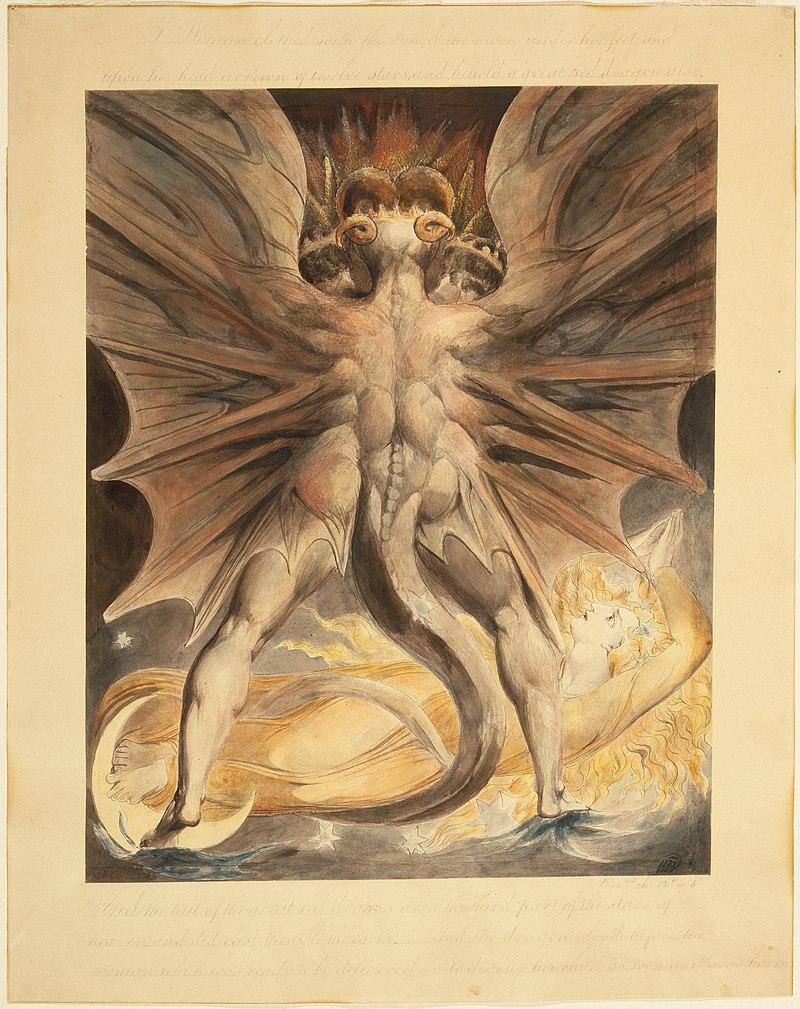 """Описание картины """"Красный дракон"""" Уильяма Блейка"""