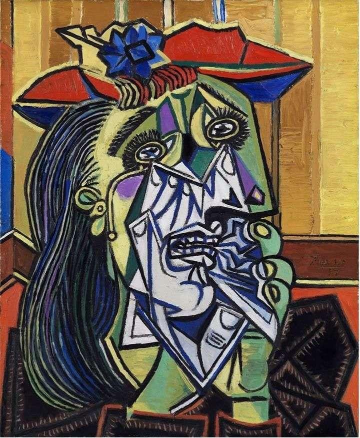 """Описание картины """"Плачущая женщина"""" Пабло Пикассо"""