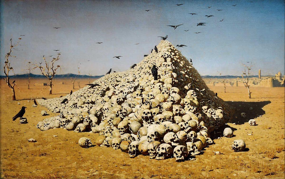Василий Верещагин, 1871 год, картина «Апофеоз войны».