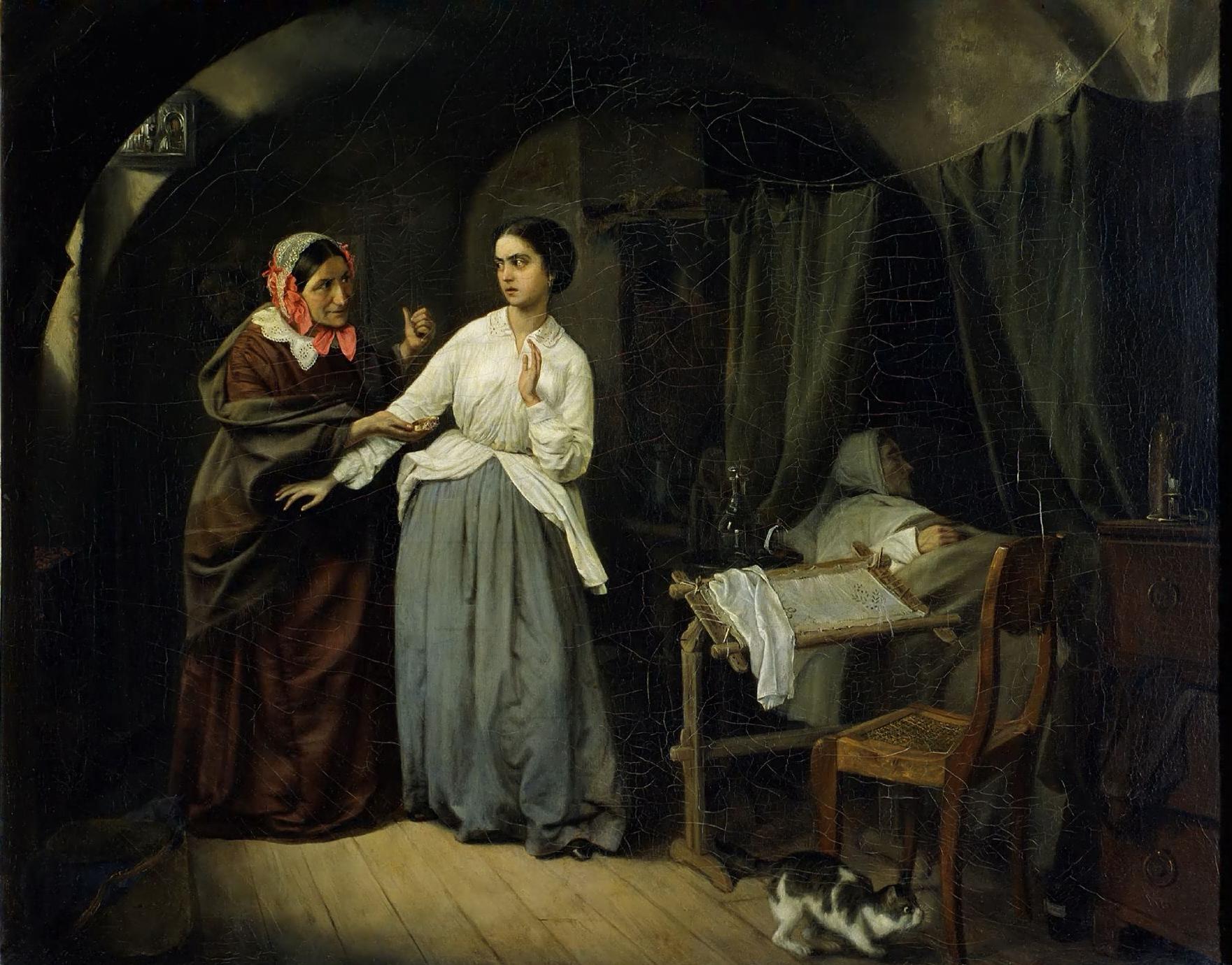 Николай Шильдер, 1857 год, картина «Искушение».