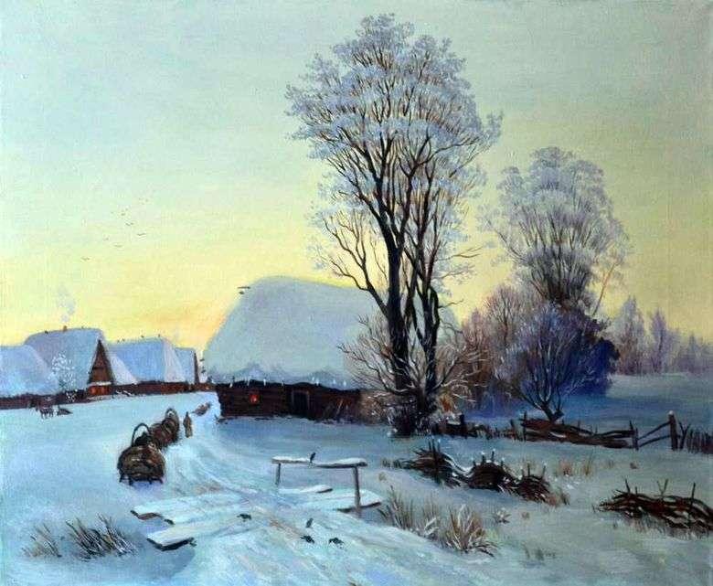 Гавриил Кондратенко, 1904 год, картина «Зимний вечер».