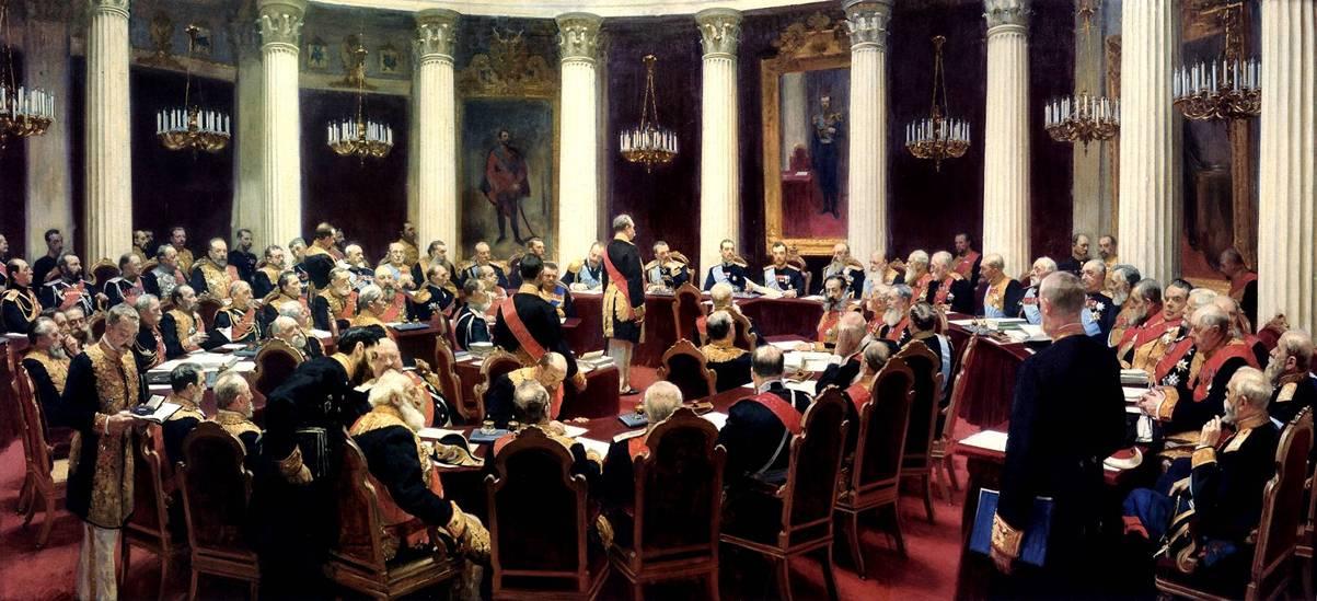 Илья Репин, 1903 год, картина «Торжественное заседание Государственного совета».
