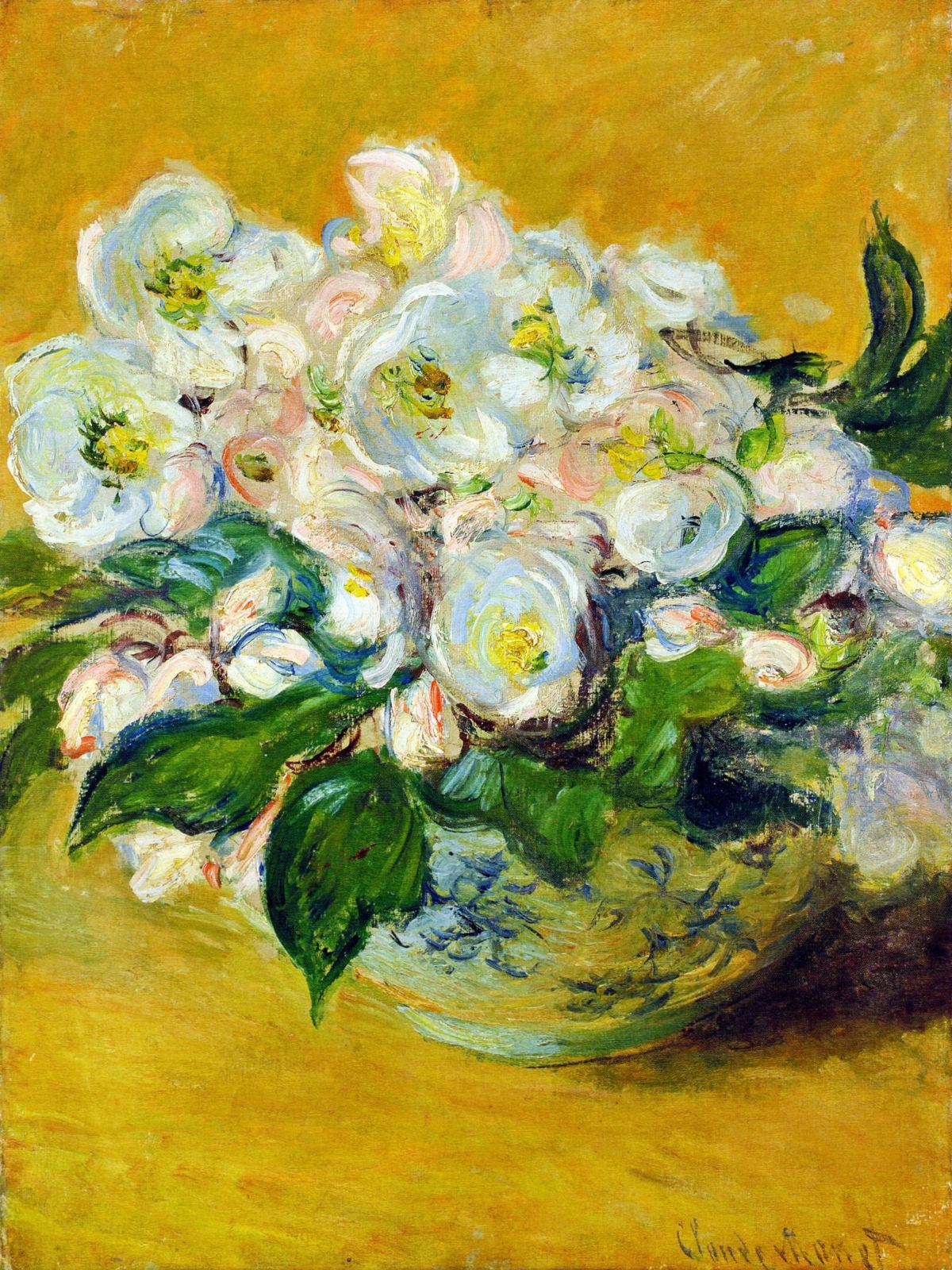 Клод Моне, 1883 год, картина «Рождественские розы».