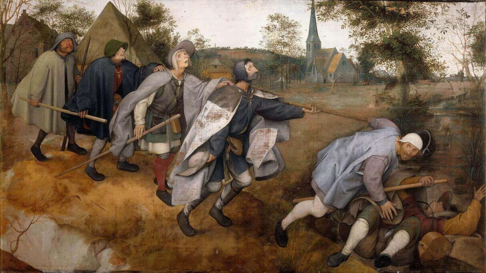 Питер Брейгель, 1568 год, картина «Слепые».