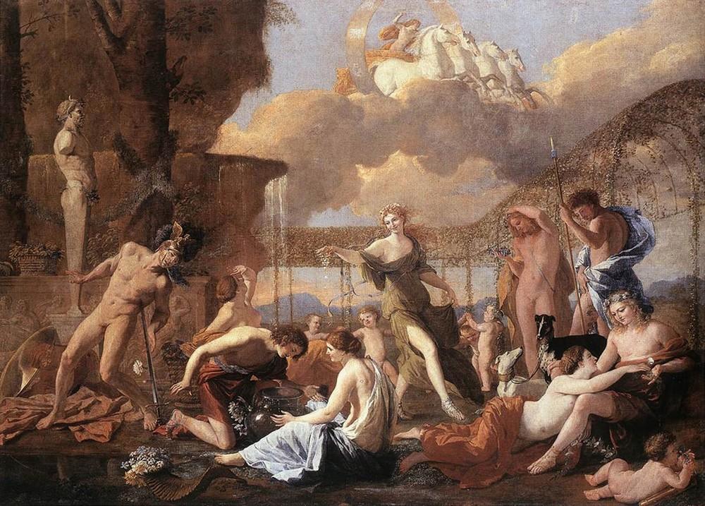 Никола Пуссен, 1630-1631 год, картина «Царство Флоры».