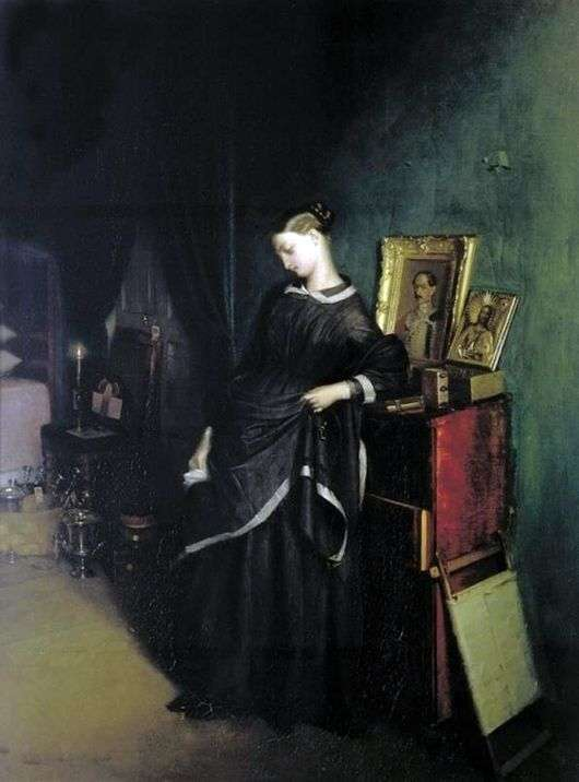 Павел Федотов, 1851-1852 годы, картина «Вдовушка».
