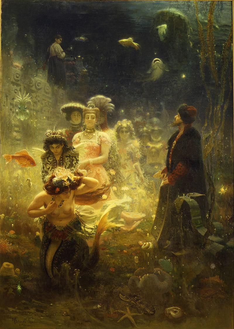 Илья Репин, 1876 год, картина «Садко».