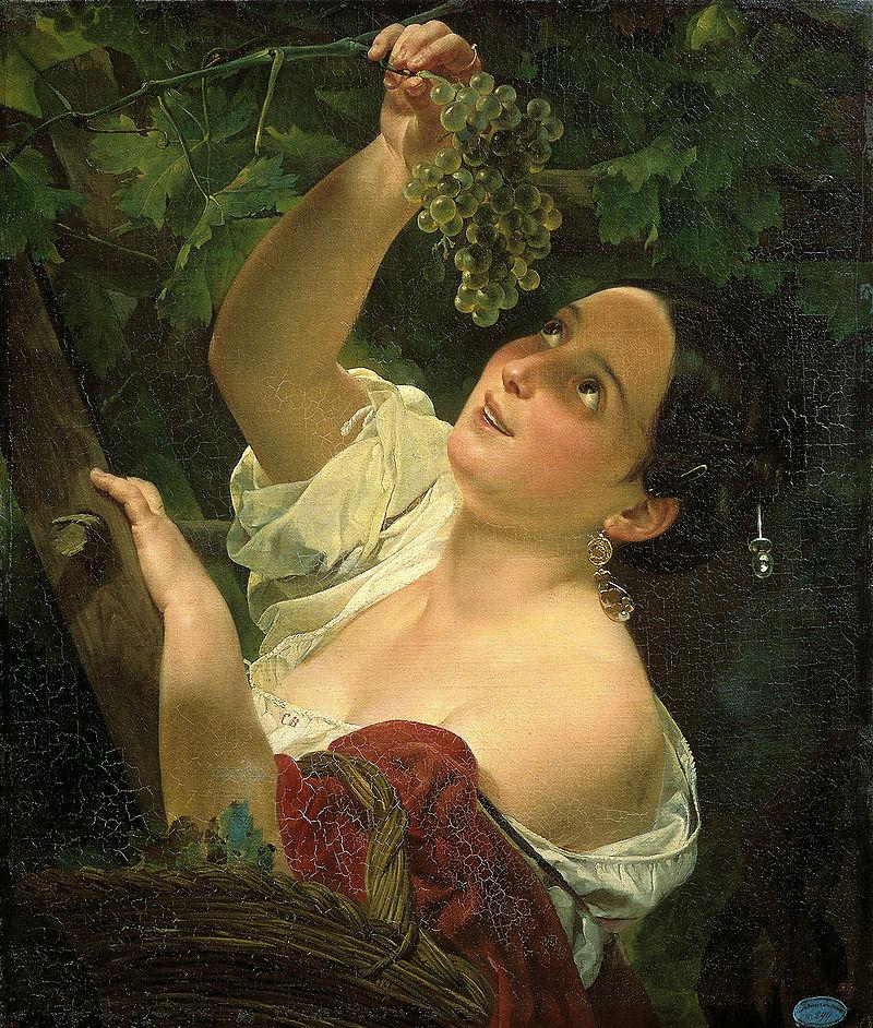 Итальянский полдень. Карл Брюллов, 1827 год, Музей Санкт-Петербург.