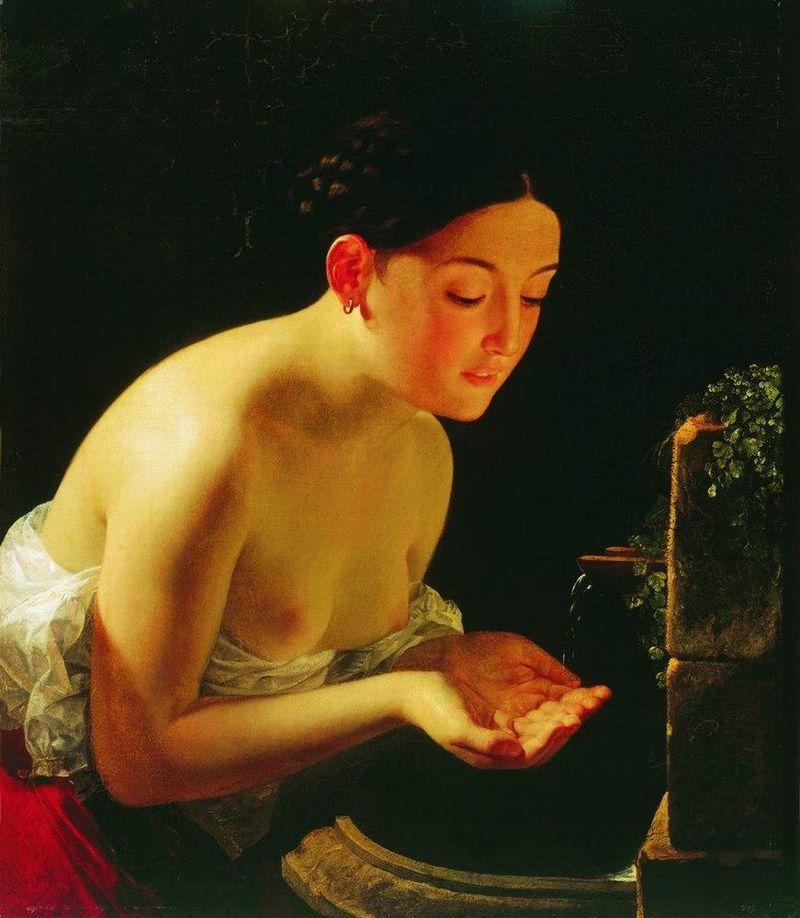 Итальянское утро. Карл Брюллов. 1823 год. Галерея Кунстхалле, Киль, Германия.
