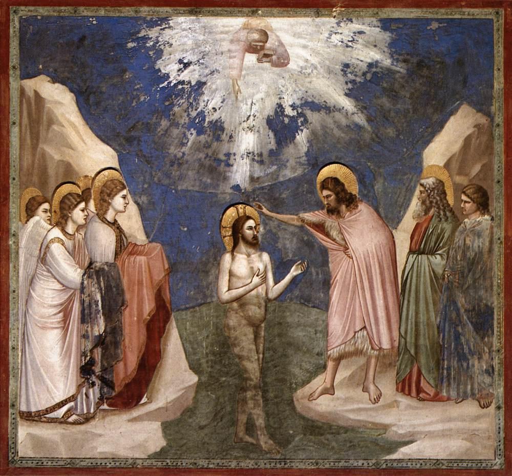 """Описание картины """"Крещение Христа"""" Джотто ди Бондоне"""