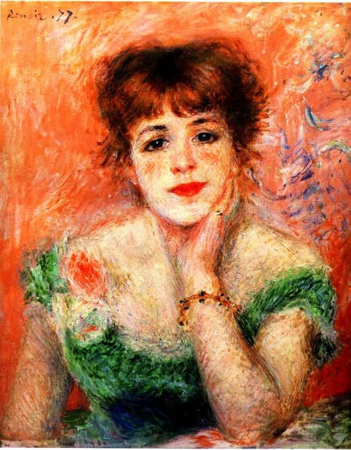 Огюст Ренуар, 1877 год, картина «Портрет актрисы Жанны Самари».