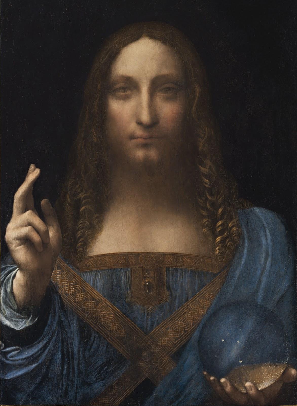 """Описание картины """"Спаситель мира"""" Леонардо да Винчи"""