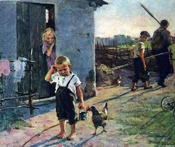 Олег Попович, 1961 год, картина «Не взяли на рыбалку».