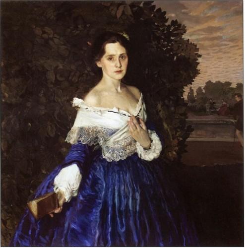 Константин Сомов, 1897-1900 годы, картина «Дама в голубом».