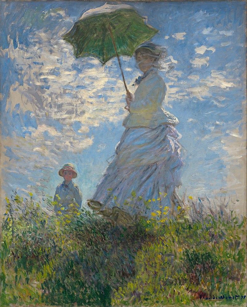"""Описание картины Клода Моне """"Прогулка. Дама с зонтиком"""""""