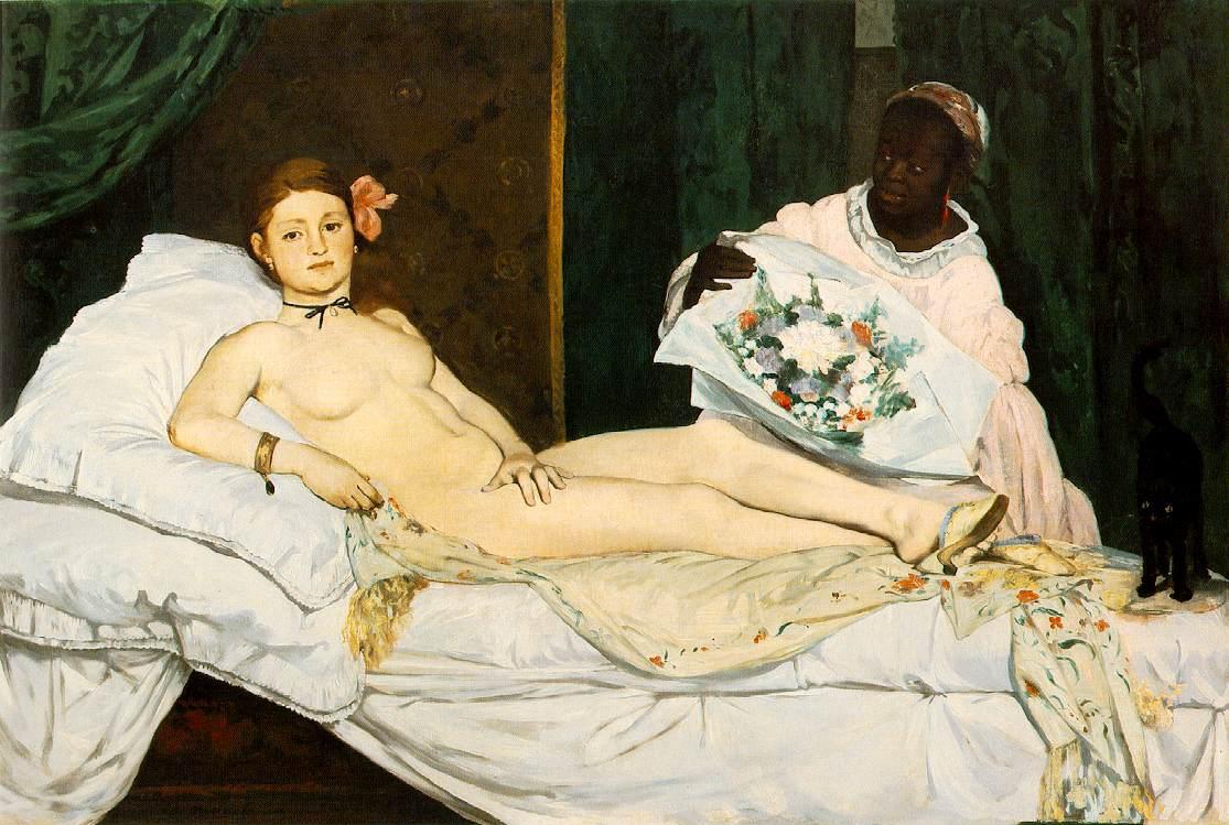 Эдуард Мане, 1863 год, картина «Олимпия».