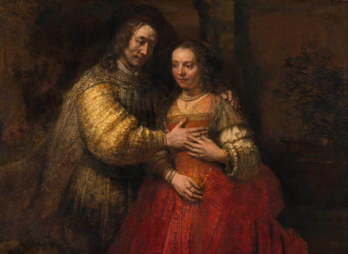Рембрандт Харменс ван Рейн, 1665 год, картина «Еврейская невеста»