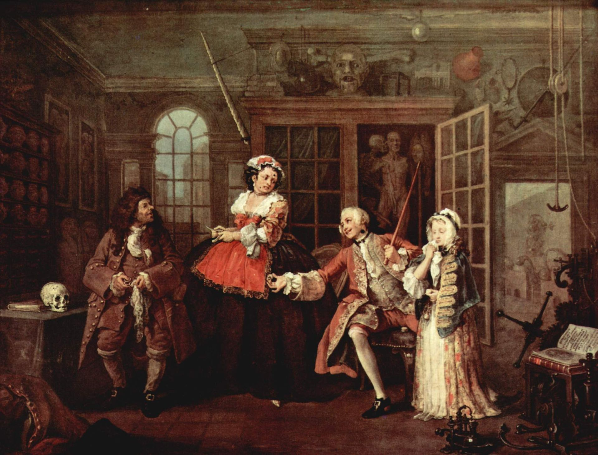 Уильям Хогарт, 1743—1745 гг., картина «Визит к шарлатану»