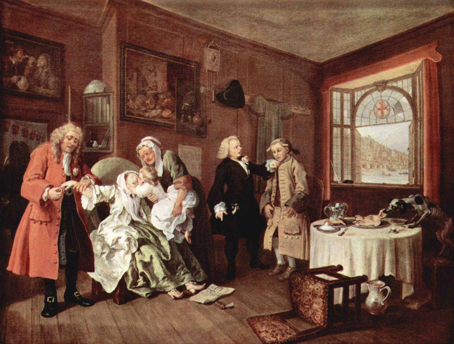Уильям Хогарт, 1743—1745 гг., картина «Смерть графини»