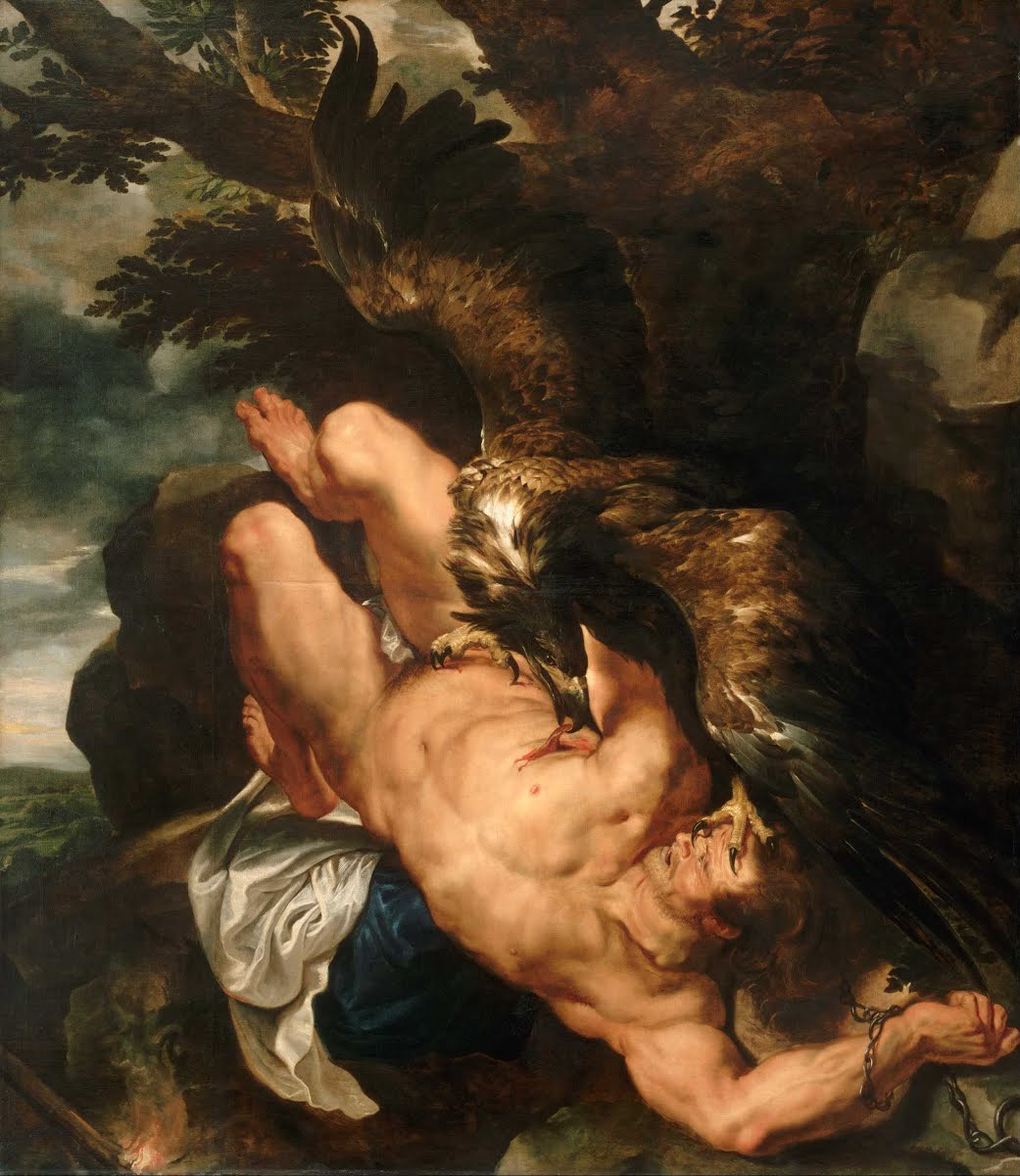Прикованный Прометей. Питер Рубенс. 1612 год. Художественный музей, Филадельфия.