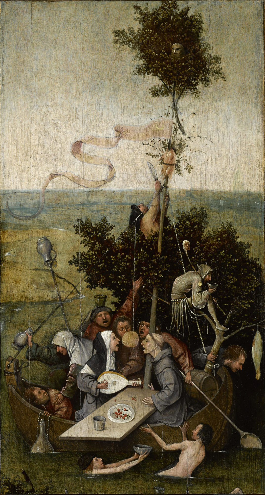 Корабль дкраков. Иероним Босх. 1495-1500 гг. Лувр, Париж.