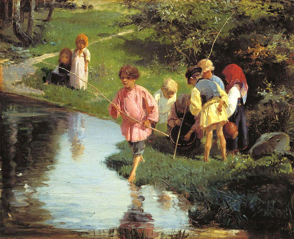 Илларион Прянишников, 1882 год, картина «Дети на рыбалке»