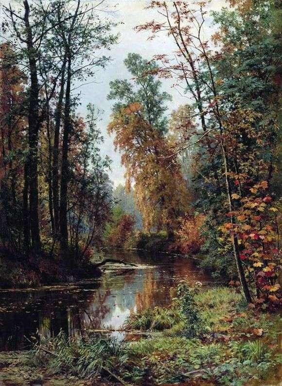 Иван Шишкин, 1889 год, картина «Парк в Павловске».