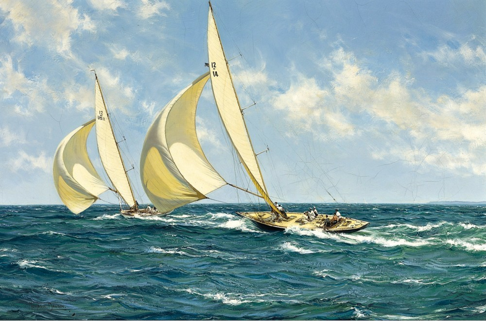Доусон Монтегю, 1953 год, картина «Спортивные соревнования».