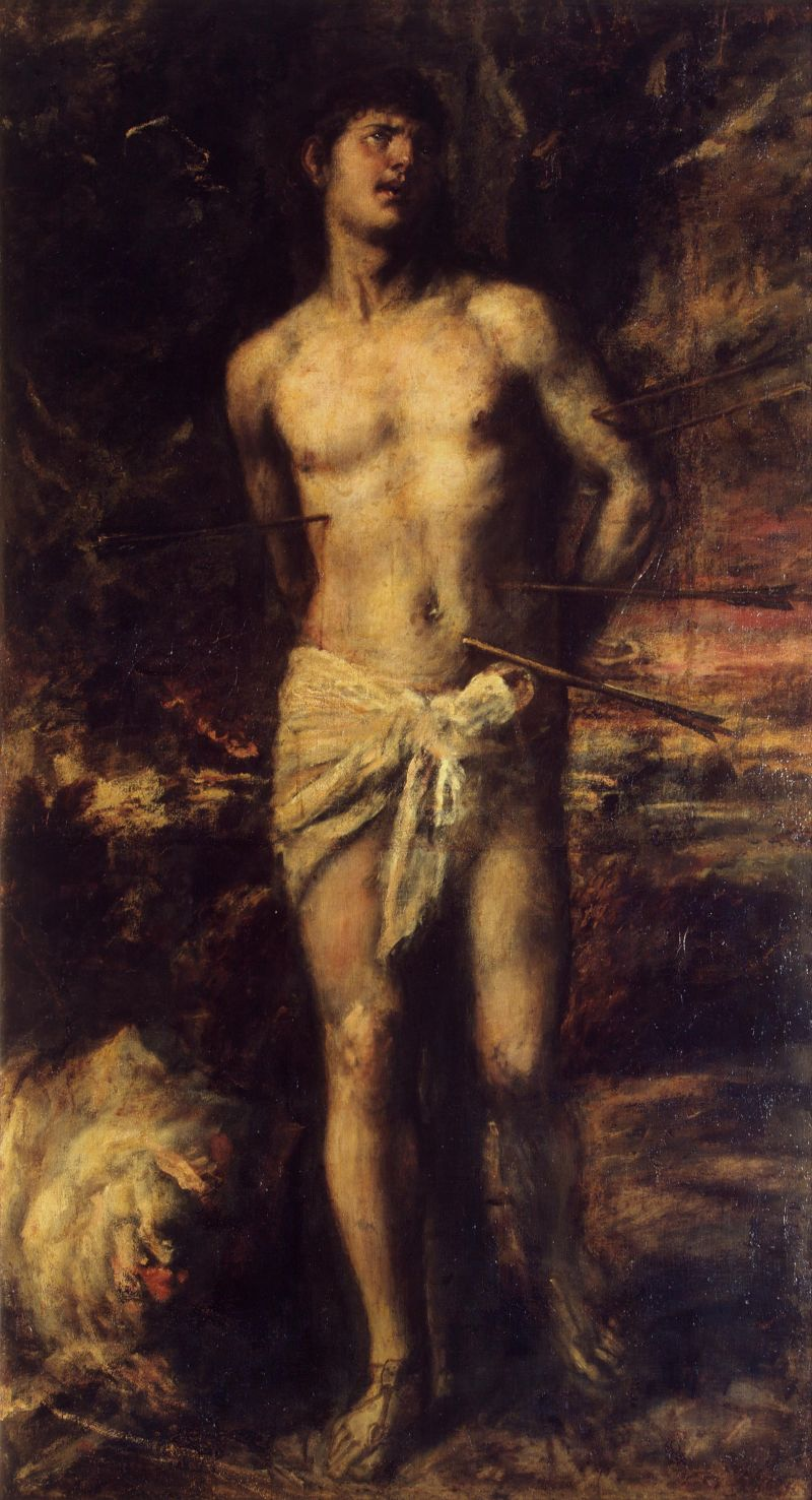 """Тициан, 1570 год, картина """"Святой Себастьян"""""""