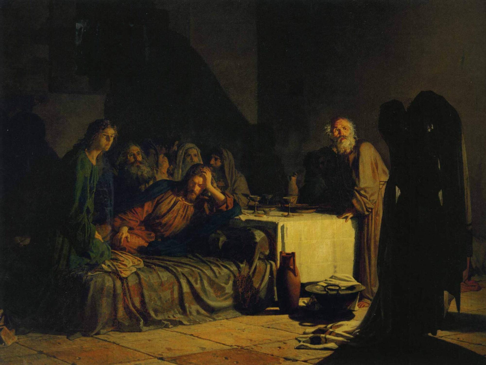 Николай Ге, 1883 год, картина «Тайная вечеря»