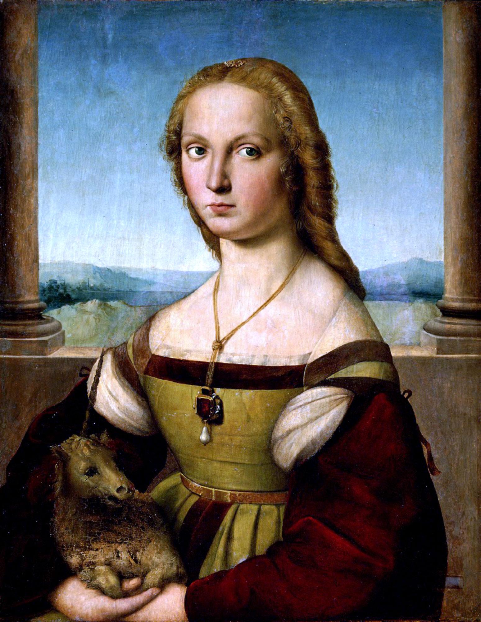 Дама с единорогом. Рафаэль Санти. 1505-1506 гг. Галерея Боргезе, Рим.