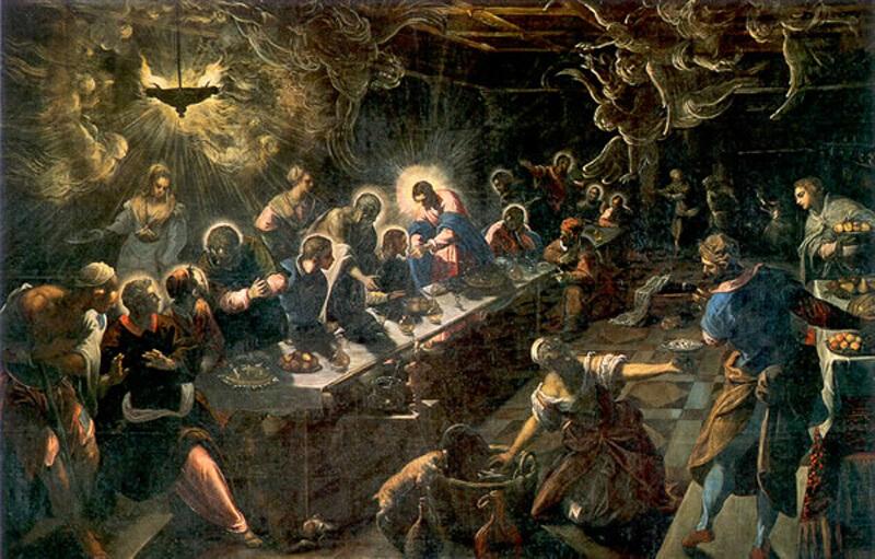 Тинторетто, 1592—1594 годы, картина «Тайная вечеря».