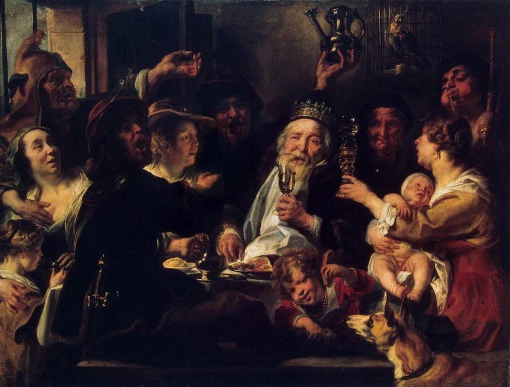 "Я.Йорданс, ""Бобовый король"", 1638 год, фото: ru.wikipedia.org"