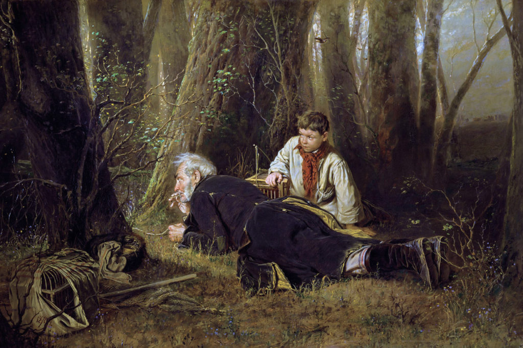 "В.Перов, картина ""Птицелов"", 1870 год, фото: art-portrets.ru"