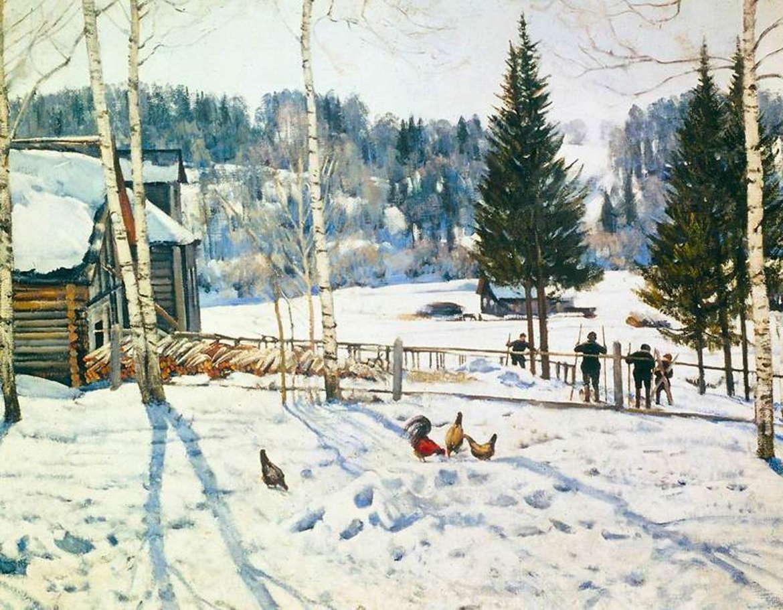 Конец зимы. Полдень. Константин Юон, 1929 год.