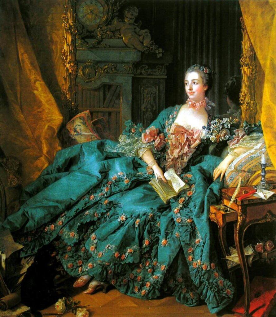 "Ф.Буше, картина ""Портрет мадам де Помпадур"", 1756 год, фото: muzei-mira.com"